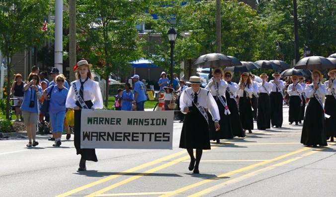 The Warnerettes marching in the Founders Festival parade